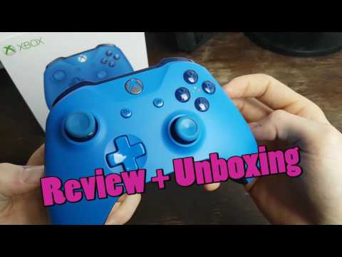 Xbox One Wireless Controller Blau (Blue)  - Unboxing + Review 2017