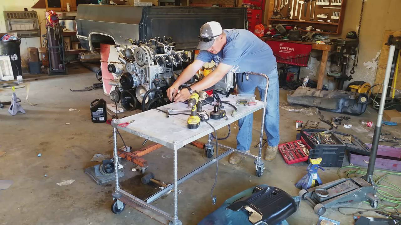 1984 C10 Project ---- LS Swap Part 2 (Test Starting The 5 ...