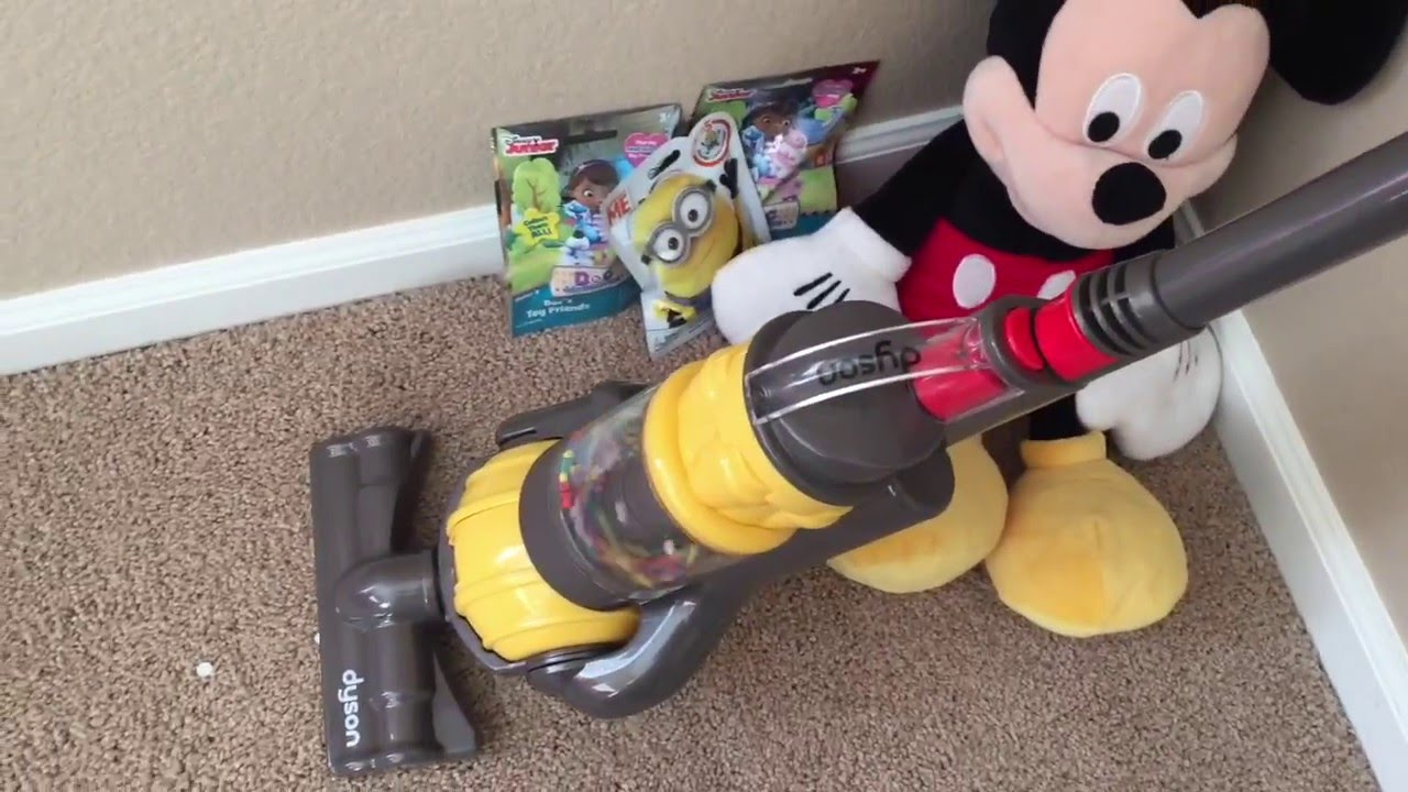 Just Like Home Toy Vacuum : Dyson toy vacuum cleaner with real suction mickey