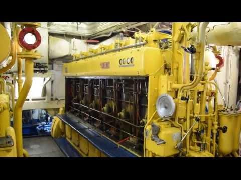 видео: Машинное отделение теплохода