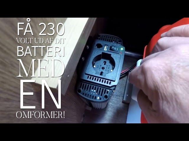 Omformer/inverter giver dig 230 volt fra dit 12 volt batteri. Peer Neslein viser dig hvordan.