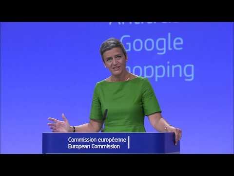 The European Commission has fined Google €2.42 billion
