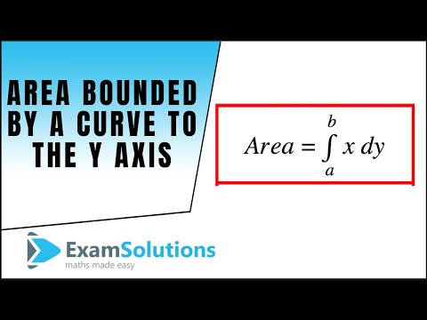 Area bounded by a curve to the y-axis : ExamSolutions Maths Revision