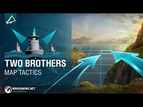 World of Warships - Map Tactics: Two Brothers
