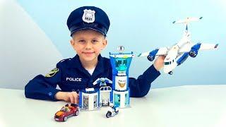 авиабаза Воздушной Полиции Лего Сити 60210 и Полицейский Даник - Побег бандита ВОРОНА из тюрьмы