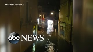 Venice is being flooded by the highest tide in more than 50 years l ABC News