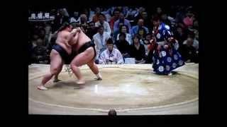 稀勢の里vs照ノ富士 平成27年大相撲春場所 SUMO Kisenosato vs Terunofuji.