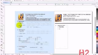 desain formulir pendaftaran menggunakan corel draw x7