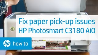 Fixing Paper Pick-Up Issues - HP Photosmart C3180, C3100  & the HP PSC 1507, 1508, 1510 All-in-One P