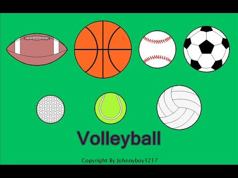 Learn the names of 7 different sport balls for children Sport Equipment train