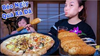 🇯🇵Ngất Ngây Phô Mai Xiên Que Chiên & Bánh Pizza Phô Mai, Thơm Ngon Béo Ngậy Quá Xá Đã #375
