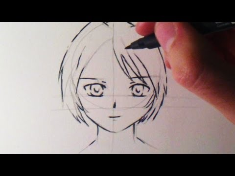 Comment Dessiner Un Visage Manga Fille Bonus Youtube