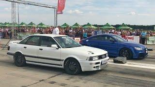 Audi 90 Quattro 800 Hp+ vs Audi TT RS 500 Hp+ - Drag Race Arad 21.05.2017