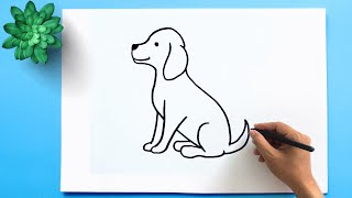 How to Draw a D๐g Step by Step 🐕