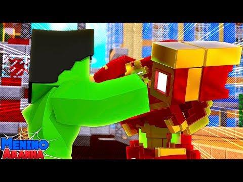 Minecraft: MENINO ARANHA - HOMEM DE FERRO vs HULK!!! #285