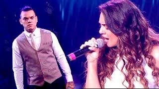 Lanzelotta y Ángela Leiva cantaron su último tema