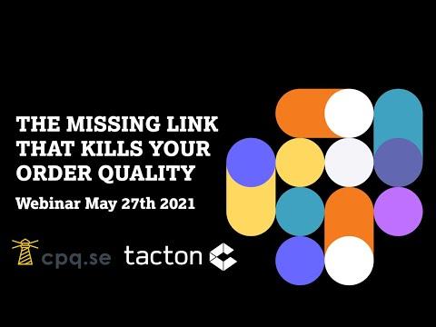 Webinar May 27, 2021 - Master data in CPQ