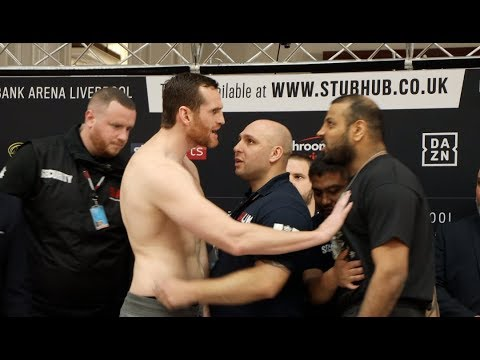 HEAVYWEIGHTS IN LIVERPOOL! - DAVID PRICE CHECKS KASH ALI'S HEART AS PAIR TRADE WORDS AT WEIGH-IN