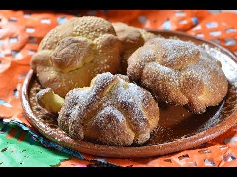 Pan de muerto simplificado - Day of the Dead bread - Día de muertos