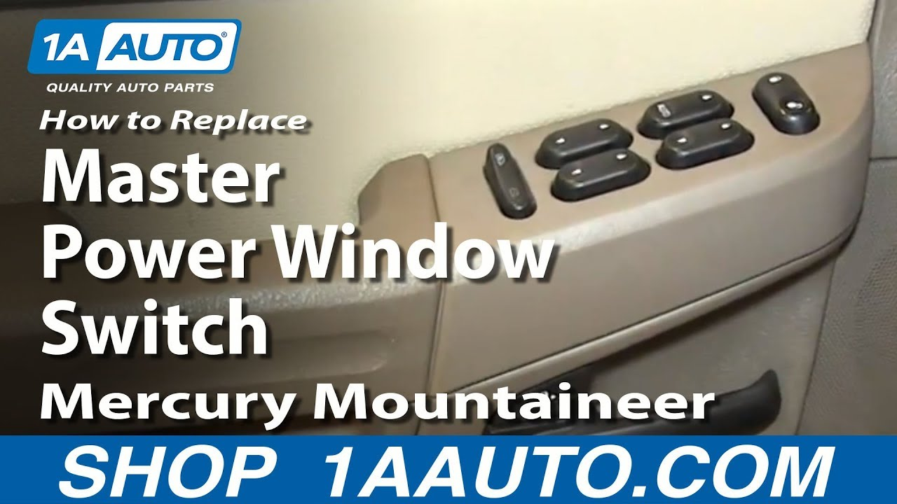 How To Replace Power Window Switch 02 05 Mercury