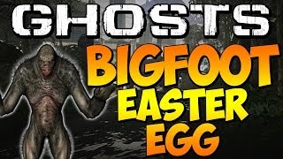 "COD Ghosts - ""SECRET BIGFOOT EASTER EGG"" on PRISON BREAK (Call of Duty) 