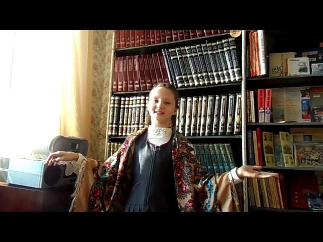 Изображение предпросмотра прочтения – ВалерияКаданцева читает произведение «Берёза» С.А.Есенина