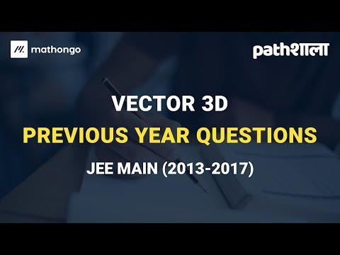 Vector 3D - Past Year Analysis - MathonGo Pathshaala