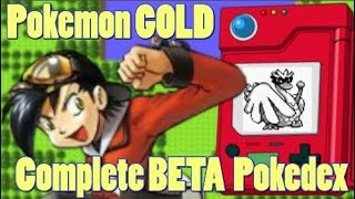 Pokemon GOLD 1997 Demo Pokedex 152 to 251 CUT GEN 2 POKEMON