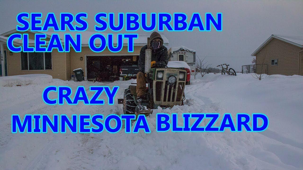 Sears Suburban plowing Snow