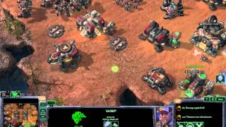 StarCraft 2 Gameplay Terran vs Protoss vs Zerg Skirmish 35min HD 1080p