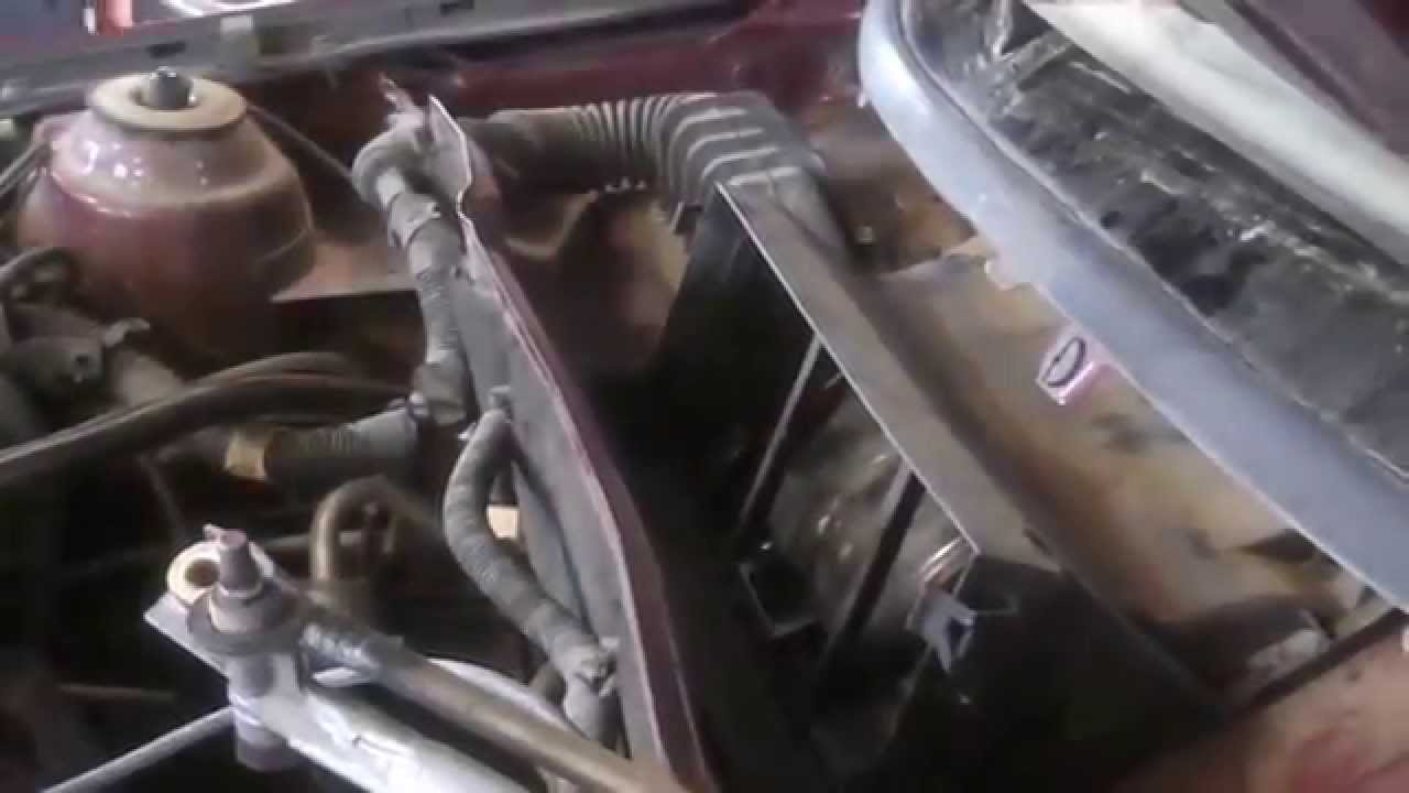 blower motor replacement saturn ls 2000 under hood install remove replace [ 1280 x 720 Pixel ]
