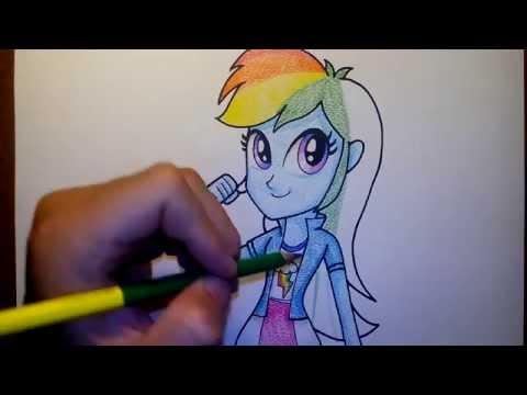 (ระบายสี) วาดรูปการ์ตูน มายลิตเติ้ลโพนี่ เรนโบว์แดช my little pony Rainbow Dash EG