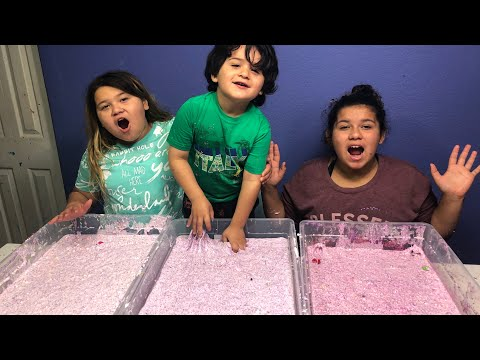 MAKING BIRTHDAY SLIME WITH OUR LITTLE BROTHER - DIY 3 GALLONS OF BIRTHDAY SLIME