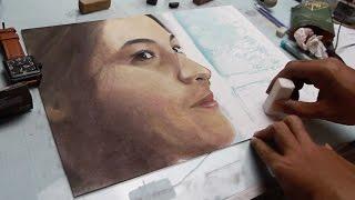 Baixar Chelsea Islan Portrait Realism Charcoal And Soft Pastel Timelapse Drawing by Taufik Noor