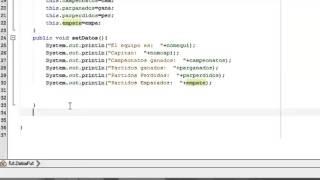 Metodos Set y Get (Clases). NetBeans