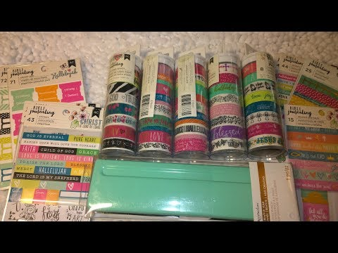 No Way!  Michaels A5 Planner Punch & New American Crafts Bible Journaling Washi!