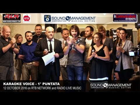 Karaoke Voice Live on RTB Network & Radio Live Music - 12 October 2016 - 1° Puntata