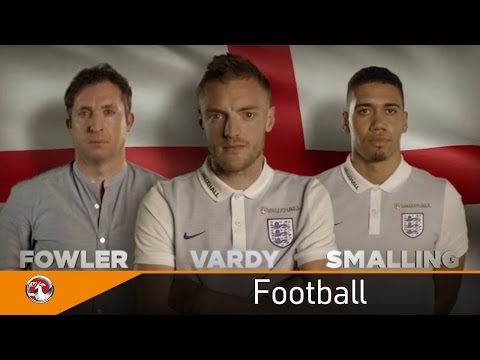 Jamie Vardy, Chris Smalling and Robbie Fowler launch Vauxhall's #GetIN campaign for England