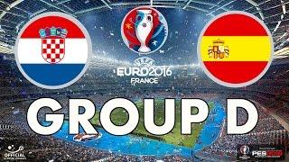 PES 2016 - EURO 2016 - Group D - Croatia v Spain