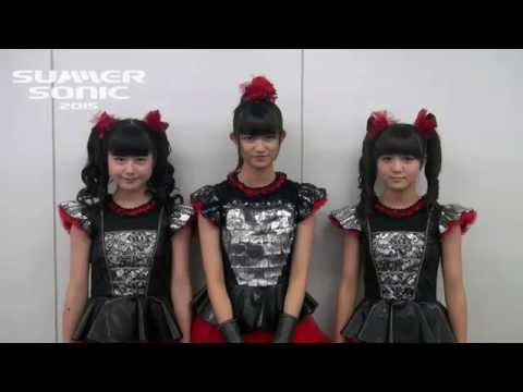 BABYMETAL message for Summer Sonic 2015