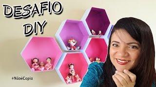 DIY | Nichos Hexagonais de Papelão | Projeto #NãoéCopia | Viviane Magalhães