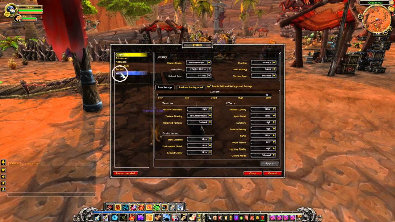 How to enable voice chat in WOW