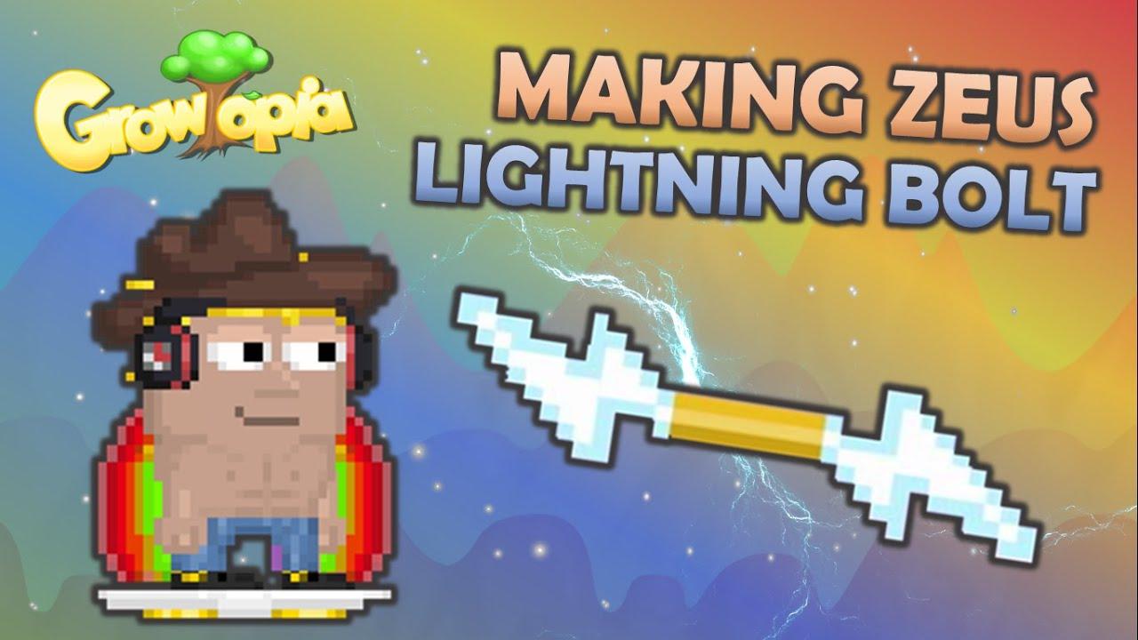 Growtopia Making Zeus Lightning Bolt Youtube