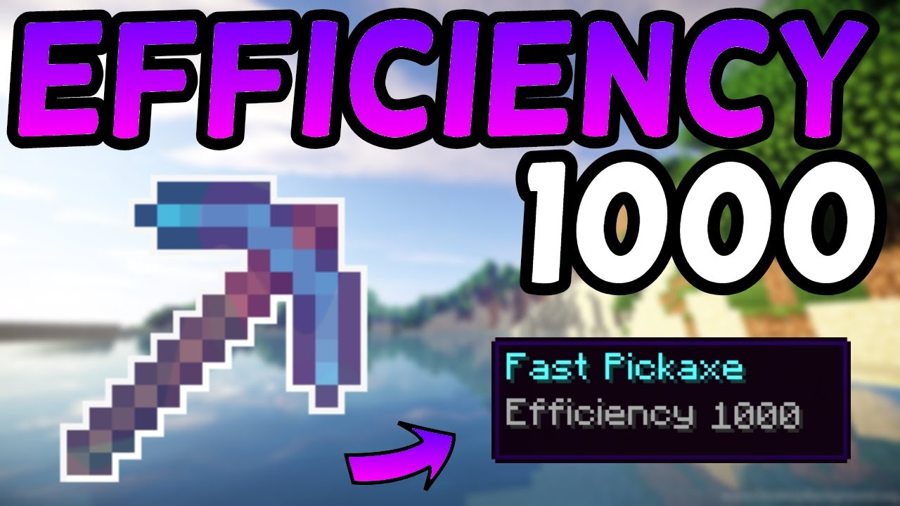 How To Get an Efficiency 1111,1111 Pickaxe In Minecraft 1111.11111! (11)
