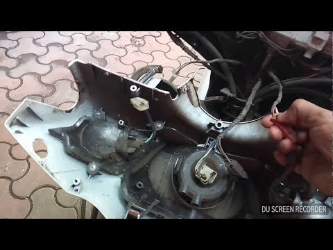 How to change speedometer cable & Horn switch of Activa 3G