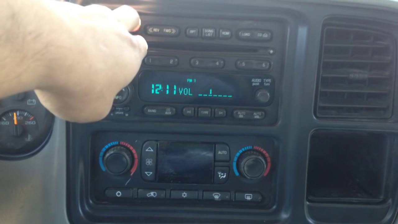 2006 GMC Sierra Auxiliary to the factory radio  YouTube