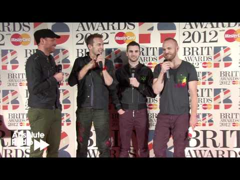 Coldplay backstage at BRIT Awards 2012