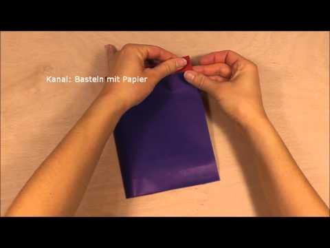 Papiertüten Basteln Tüten Selber Falten Aus Papier Zb