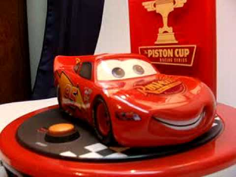 Disney Pixar Lightning McQueen Alarm/ Lamp Clock E Bay Auction   YouTube