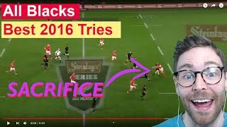 American reacts to ALL BLACKS 2016 TRIES